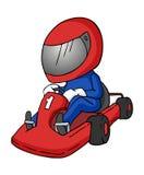 动画片karting的例证 库存例证