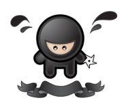 动画片ninja 库存照片