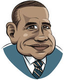 动画片obama 向量例证