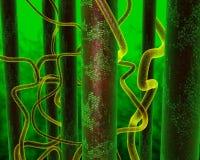 动画绿色头带 库存图片