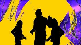 动画跳舞人陈列 向量例证