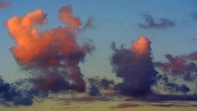 移动的云彩timelapse动画 股票视频