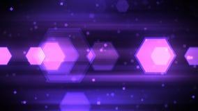 移动的六角形形状 免版税库存图片