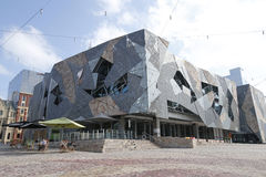 移动的图象澳大利亚中心在联盟正方形在墨尔本 图库摄影