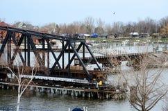 移动的桥梁 库存照片