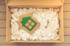 移动的箱子 免版税库存照片
