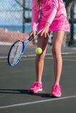 活动的网球员 库存照片