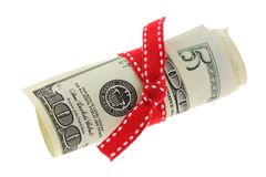 滚动的美元钞票 免版税图库摄影