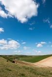 滚动的苏克塞斯乡下的风景看法 库存图片