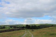 滚动的英国乡下在湖区Cumbria 库存图片