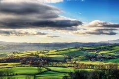 滚动的英国乡下在Cumbria 免版税库存照片