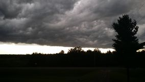 滚动的风暴,雷暴,恶劣天气 库存图片