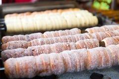 滚动的pasteries在布拉格 库存图片