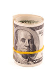 滚动美国金钱 图库摄影