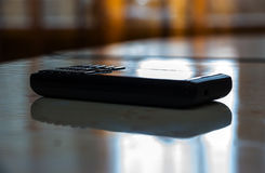 移动老电话 免版税图库摄影
