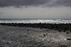 动荡和风雨如磐的海洋 库存照片