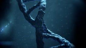 移动蓝色染色体的动画 皇族释放例证