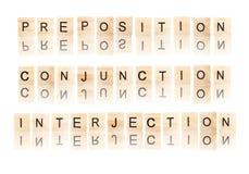 动词和形容词词 免版税库存照片