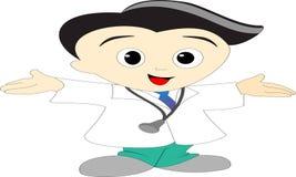 动画图象年轻人医生 免版税库存图片
