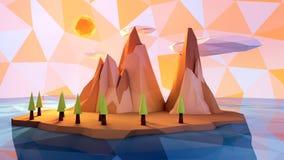 动画片不可思议的海岛 库存照片