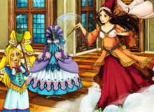 动画片不同的故事的童话场面 免版税库存图片