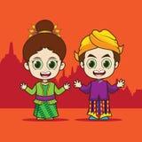 动画片东南亚国家联盟印度尼西亚 库存照片