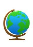 动画片书桌地球绿色和蓝色 库存图片