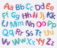 动画片五颜六色的字母表 免版税库存照片