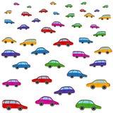 动画片五颜六色的汽车传染媒介样式 玩具 免版税图库摄影