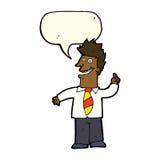 动画片人有与讲话泡影的好想法 免版税库存图片