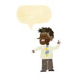 动画片人有与讲话泡影的好想法 图库摄影