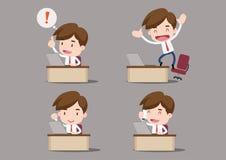 动画片企业字符-在我们的书桌 库存图片