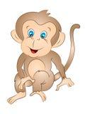 动画片传染媒介猴子开会 图库摄影