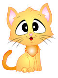 动画片传染媒介猫开会 库存图片