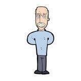 动画片使成为秃头的人困恼 免版税库存图片