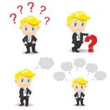 动画片例证商人问题 免版税库存图片