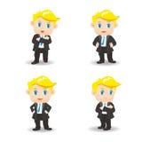 动画片例证成功商人 免版税库存照片