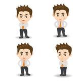 动画片例证成功商人 库存照片