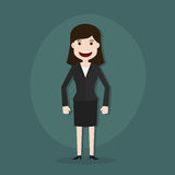 动画片例证年轻女实业家 库存图片