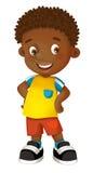 动画片儿童愉快的男孩 向量例证