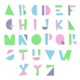 动画片几何字母表 免版税图库摄影