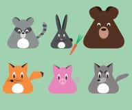 动画片动物三角形状 库存照片
