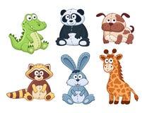 动画片动物概述 免版税图库摄影