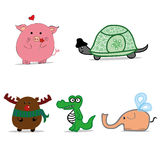 动画片动物,滑稽的动物 库存照片