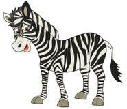 动画片动物-斑马-平的着色样式 库存照片