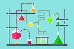 动画片化学制品实验室 向量 向量例证