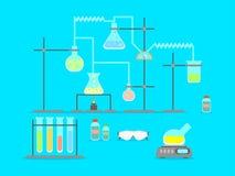动画片化学制品实验室 向量 库存例证