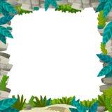 动画片另外用法-孩子的例证的自然框架 库存照片
