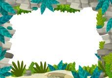 动画片另外用法-孩子的例证的自然框架 库存图片