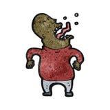 动画片叫喊的秃头人 图库摄影